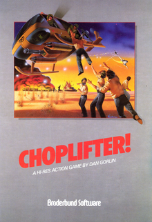 Box art for the game Choplifter