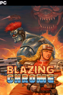 Box art for the game Blazing Chrome