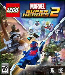 Box art for the game LEGO Marvel Super Heroes 2