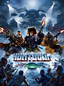 Box art for the game Huntdown