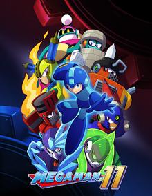Capa do jogo Megaman 11