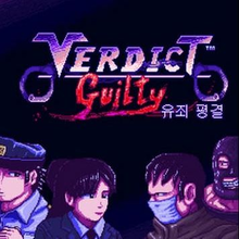 Box art for the game Veredict Guilty