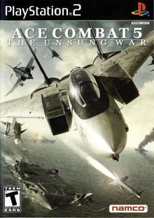 Box art for the game Ace Combat 5: The Unsung War