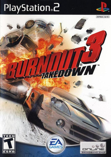 Box art for the game Burnout 3: Takedown
