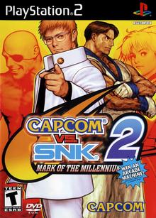 Box art for the game Capcom vs. SNK 2: Mark of the Millennium 2001