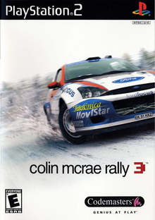 Box art for the game Colin McRae Rally 3