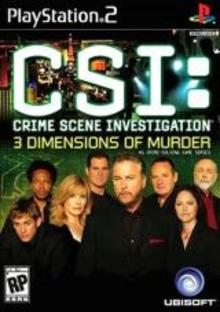 Box art for the game CSI: Crime Scene Investigation: 3 Dimensions of Murder