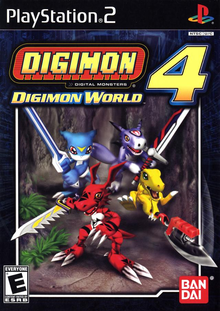Capa do jogo Digimon World 4
