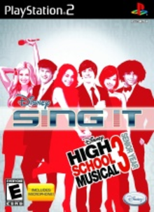Box art for the game Disney Sing It: High School Musical 3: Senior Year (Game & Microphone)