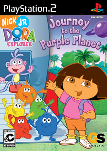 Box art for the game Dora the Explorer: Journey to the Purple Planet