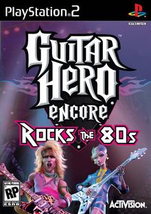 Box art for the game Guitar Hero Encore: Rocks the 80s