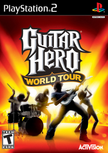 Box art for the game Guitar Hero World Tour