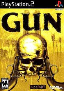 Box art for the game Gun