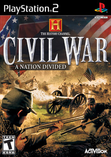 Box art for the game The History Channel - Civil War: A Nation Divided