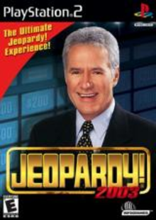 Box art for the game Jeopardy! 2003