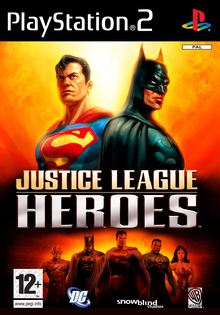 Box art for the game Justice League Heroes