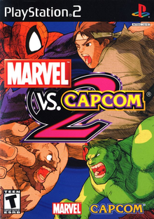 Box art for the game Marvel vs. Capcom 2: New Age of Heroes