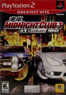 Box art for the game Midnight Club 3: DUB Edition Remix