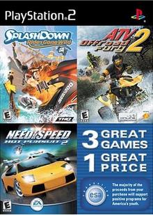 Playstation 2 Esa Triple Pack Splashdown Rides Gone Wild Atv