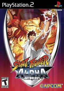 Capa do jogo Street Fighter Alpha Anthology