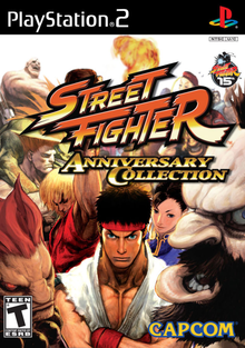 Box art for the game Street Fighter Anniversary Collection