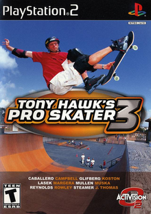 Box art for the game Tony Hawk's Pro Skater 3