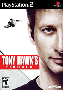 Box art for the game Tony Hawk's Project 8