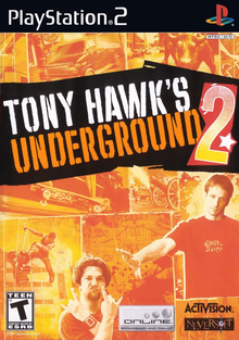 Box art for the game Tony Hawk's Underground 2