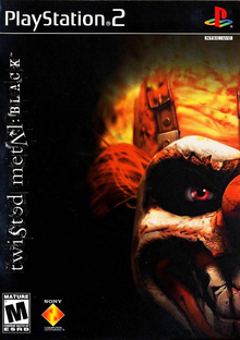 Box art for the game Twisted Metal: Black