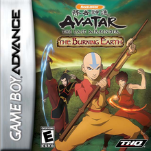 Box art for the game Avatar: The Last Airbender - The Burning Earth