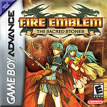 Box art for the game Fire Emblem: The Sacred Stones