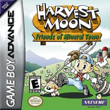 Box art for the game Harvest Moon: Friends of Mineral Town