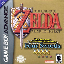 Box art for the game The Legend of Zelda: A Link to the Past w/ the Four Swords