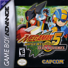 Box art for the game Mega Man Battle Network 5: Team Colonel