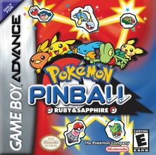 Box art for the game Pokemon Pinball: Ruby & Sapphire