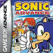 Box art for the game Sonic Advance